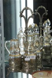 Sale 8014 - Lot 18 - French Silver Plate Gilded Cruet Set