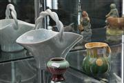 Sale 8024 - Lot 39 - John Campbell Yellow and Green Pottery Jug with Original Label and 2 other Australian Pottery Vases