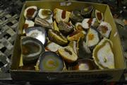 Sale 8058 - Lot 1050 - Box of Polished Brown Agate Ends