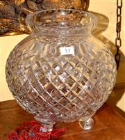 Sale 8080A - Lot 13 - A Large Cut Crystal Vase. Height 25cm
