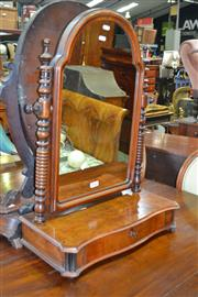 Sale 8093 - Lot 1761 - Late Victorian Mahogany Toilet Mirror with Single Drawer (key in office)