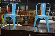 Sale 8115 - Lot 1410 - Pair Of Metal Dining Chairs