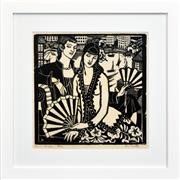Sale 8282A - Lot 8 - Thea Proctor (1879 - 1966) - Women with Fans 35 x 36cm (frame size 57 x 57cm)
