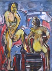 Sale 8381A - Lot 44 - George Foxhill (1921 - 2011) - The Waiting... 240 x 175.5cm