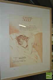Sale 8422T - Lot 2018 - Brian Dunlop (1938 - 2009) - Sleep, 1988 72 x 51.5cm