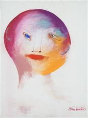 Sale 8410A - Lot 5030 - Anne Hall (1945 - ) - Untitled, 1967 (Portrait) 76.5 x 56cm (sheet size)