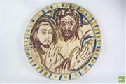 Sale 8516 - Lot 98 - Salvatore Zofrea Painted St Francis Stigmata Charger