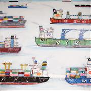 Sale 8708A - Lot 530 - Adam Lester - Singapore Harbour #2, 2013 170 x 170cm