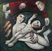 Sale 8847 - Lot 591 - Kay Singleton Keller (1940 - 2014) - The Surrogate, 1967 -1968 91 x 91cm