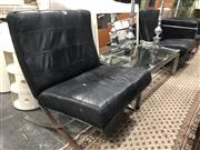Sale 8787 - Lot 1029 - Pair of Barcelona Style Chairs