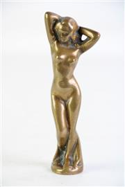 Sale 8905 - Lot 75 - Small Cast Mascot of a Nude Woman (height 15.5cm)