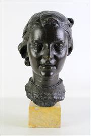 Sale 8935 - Lot 2 - After Griselli Large Bronze figural study of a lady, signed to back, on stand (Total height - 43cm)