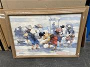 Sale 9028 - Lot 2092 - Filipino School Villagers Working oil on canvas 72 x101cm (Frame) signed lower left