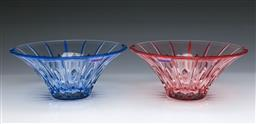 Sale 9107 - Lot 19 - Waterford Marquis Bowls in Raspberry and Aqua- Unused with Boxes (9 x 20 cm)
