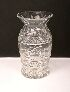 Sale 3568 - Lot 26 - A WELL CUT CRYSTAL VASE