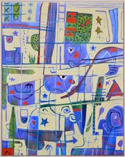Sale 8382 - Lot 536 - Tanya Hoddinott (1966 - ) - Tip the Boat 2004 166.5 x 131cm