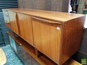 Sale 8493 - Lot 1099 - McIntosh Teak and Rosewood Sideboard