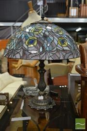 Sale 8515 - Lot 1082 - Pair of Leadlight Shade Table Lamps