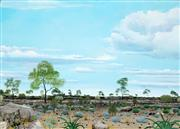 Sale 8526A - Lot 5050 - Beaver Lennon (1988 - ) - Plains of the Gawler Ranges 58 x 83cm (stretched & ready to hang)