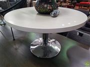 Sale 8637 - Lot 1080 - Modern Timber Top Coffee Table on Chrome Base