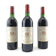 Sale 8687 - Lot 832 - 3x 1990 Chateau Lilian Ladouys La Devise de Lilian Rouge, Saint-Estephe - into neck