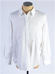 Sale 8926H - Lot 10 - An Escada Sport cotton blouse in cream with crest embroidery to left side, size L