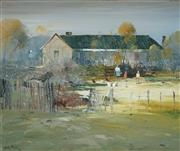 Sale 8955 - Lot 510 - Colin Parker (1941 - ) - Winters Morning at Hill End N.S.W, 1981 50 x 60 cm (frame: 69 x 79 x 5 cm)