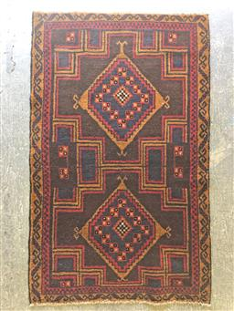 Sale 9151 - Lot 1357 - Hand knotted pure wool Persian Baluchi (145 x 86cm)