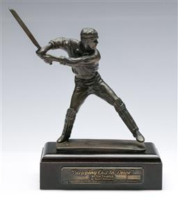Sale 9173 - Lot 25 - Stepping out to drive bronze figural group of Victor Trumper, by Fredric Whitehouse, limited edition 005/500