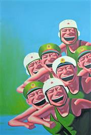 Sale 8161A - Lot 63 - Contemporary Chinese School (XX) - A Barmy Army 92 x 62cm