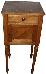 Sale 8258A - Lot 10 - Louis XVI style marble top pot cupboard with single drawer, RRP $850, W39 x D35 x H84cm