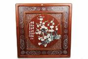 Sale 8393 - Lot 89 - Chinese Timber Jade & Stone decorated Panel