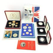 Sale 8618 - Lot 64 - Canada Silver 1oz Coins (2) with other International Proof Sets, incl. 1977 Leningrad, Hong Kong 1993, etc