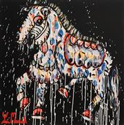 Sale 9062A - Lot 5038 - Yosi Messiah (1964 - ) - Golden Racer 85 x 85 cm