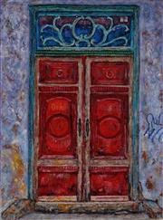 Sale 8975A - Lot 5075 - Stanley Perl (1942 - ) - Doors Of India 17 61.5 x 45.5 cm (total: 61.5 x 45.5 x 4 cm)