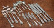 Sale 9071H - Lot 96 - A group of US Sterling silver flatware Gorham Company in the Chantilly pattern late C19th to include knives forks, spoons total weig...
