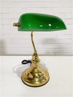 Sale 9154 - Lot 1003 - Brass bankers lamp (h39cm)