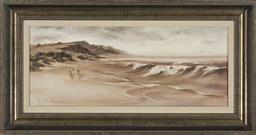 Sale 9172 - Lot 2015 - Anita Newman In the Lea of Junes oil on board 40 x 74cm (frame) signed -