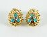 Sale 3701 - Lot 426 - A PAIR OF 18CT GOLD FANCY EARRINGS;