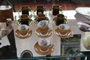 Sale 8283 - Lot 92 - Crown Devon Set of 6 Coffee Cup & Saucers with Coalport Examples