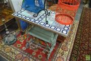 Sale 8326 - Lot 1261 - Tile Top Iron Base Table