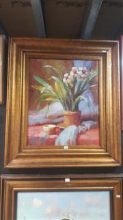 Sale 8433 - Lot 2027 - Artist Unknown, Still Life, oil on canvas, 60 x 50cm, unsigned