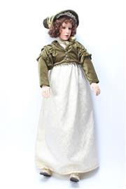 Sale 8747 - Lot 48 - Bisque Head Doll Signed to Back Faye 2/002 ( H 122cm)