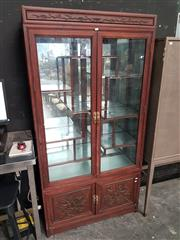 Sale 8904 - Lot 1010 - Chinese Carved Rosewood Display Cabinet