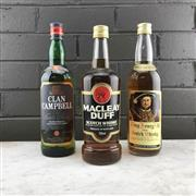 Sale 8933W - Lot 52 - 3x Old Scotch Whiskies - Clan Campbell, Macleay Duff & King Henry VIII