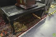 Sale 8227 - Lot 1035 - Carved Timber Side Table with Piecrust Edge on Cabriole Legs