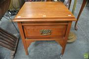 Sale 8299 - Lot 1073 - Timber Lamp Table with Drawer