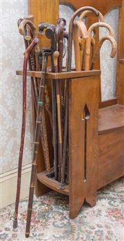 Sale 8375A - Lot 22 - A quantity of walking sticks including a Chinese bamboo example