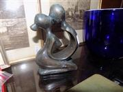 Sale 8478 - Lot 2297 - Cast Metal Abstract Lovers