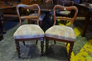Sale 8520 - Lot 1054 - Set of Six 19th Century Cedar Dining Chairs, with kidney backs, upholstered seats & turned legs (one back off)